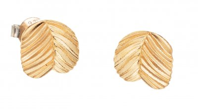 Lumoava Sprout gold earrings